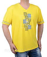 Модная летняя мужская футболка 2XL-5XL желтая
