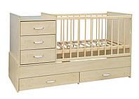 Детская кроватка трансформер от 0 до 12 лет модель 06
