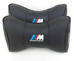Подушка подголовник BMW M Perfomens чёрный цвет
