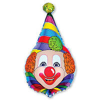 Фольгированные шары Клоун в колпаке, надутый гелием