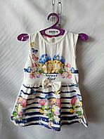 Платье  для девочек 1-5 лет, белое