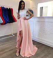 Платье вечернее в пол , ткань Верх кружево реснички+ подкладка, низ армани шёлк 2 цвета ля №конфетка