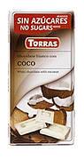 Шоколад белый Torras Coco, с кокосом, 75 г (Испания)