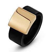 Перстень Золотой квадрат  с золотым напылением