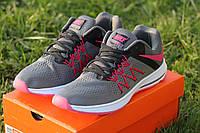 Кроссовки женские беговые Nike Zoom Winflo 3 серые с розовым