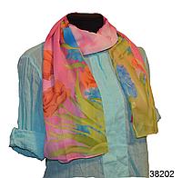 Модный весенний шарф Тюльпан розовый