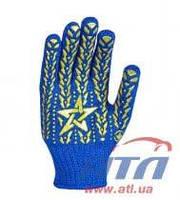 Перчатка синяя с желтой звездой ПВХ DOLONI (587)