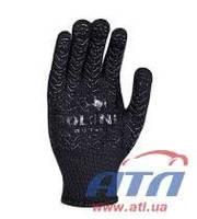 Перчатка черная с синей точкой DOLONI (563)