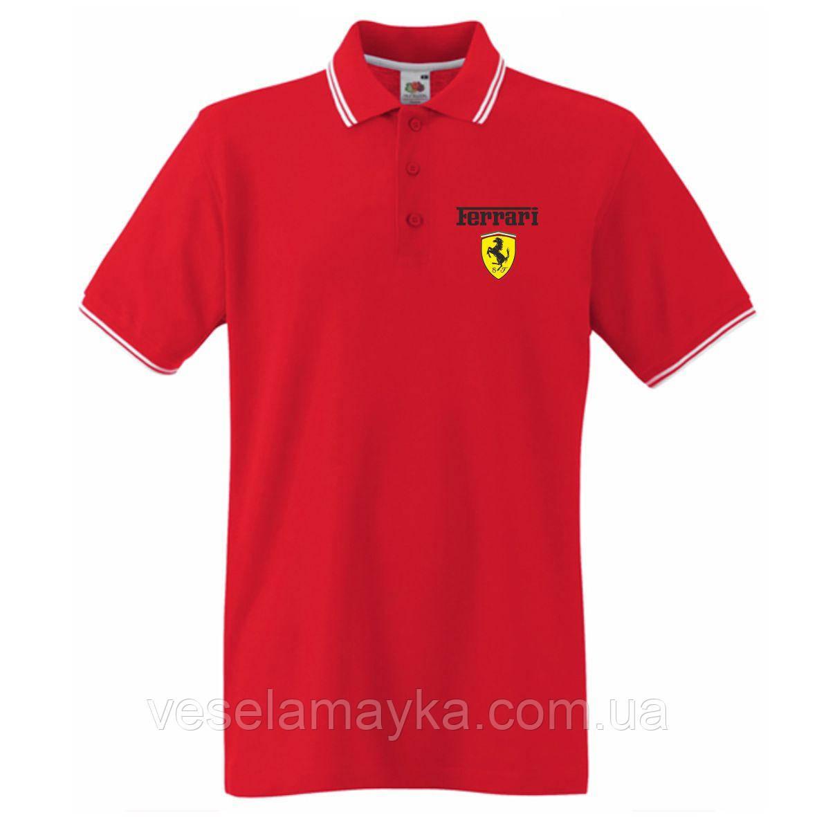 Красное поло Ferrari (Logo)