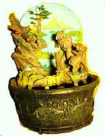 Фонтан декоративный комнатный настольный садовый домашний Слоны хобот вверх подсветка