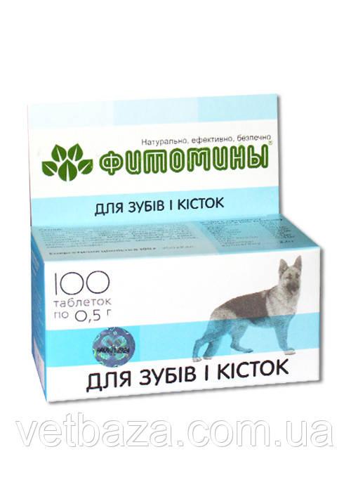 Витамины Фитомины для зубов и формирования скелета собак, 100 ВЕДА
