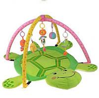 Детский развивающий коврик в форме черепашки 898-12b/0228-1R