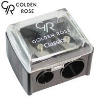 Golden Rose - Точилка косметическая двойная (черная) 1шт