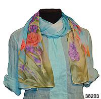 Модный весенний шарф Тюльпан голубой