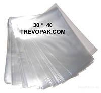 Прозрачные пакеты для упаковки печенья, подарков 30*40 (уп.100шт)