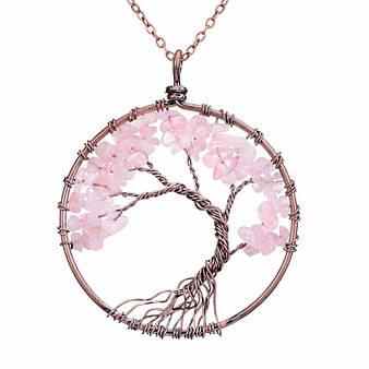Кулон из аметиста - дерево