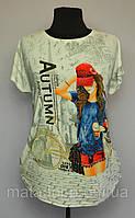 Женская футболка батал футболки больших размеров оптом