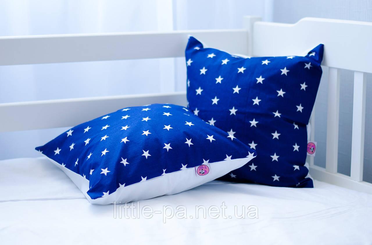 """Подушка для кроватки детской из хлопка """"Звёзды"""""""