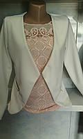 Женский укороченный летний пиджак