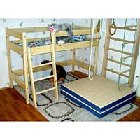 Двухъярусная кровать-чердак из сосны «Ирель» высота — 122см