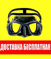 Маска для плавания Omer Bandit Black Омер бандит блек подводной охоты дайвинга снорклинга