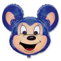 Шар, надутый гелием, фигура Майти маус синий