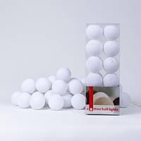 Гірлянда Cottonballlights 20 кульок /мережа/ mix