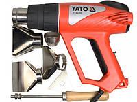 YATO Фен технічний мережевий  W= 2000 Вт 0~550°C, з регулятором темп-ри, 5 t°.реж + 6 аксесуари [5]
