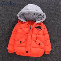 Весенне-зимняя курточка для мальчика с аппликацией