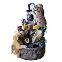 Фонтан декоративный комнатный настольный садовый домашний собаки 32 см
