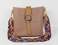 Стильная пудровая сумочка 2 в 1 с клатчем 2235-4