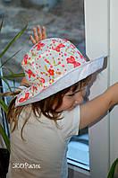 Хлопковая шляпка-панама для девочки