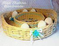 Поднос пасхальный плетеный, фото 1