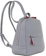 Кожаный женский рюкзак ISSA HARA BPM3 16-15 Серый 9 л