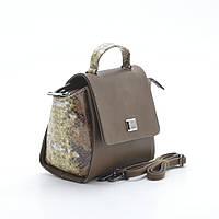 Молодежная каркасная сумка со вставками под рептилию