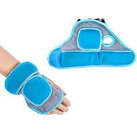 Перчатки с утяжелителями для рук IRONMASTER (серо-голубой)