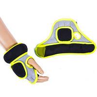 Перчатки с утяжелителями для рук IRONMASTER (черно-салатовый)