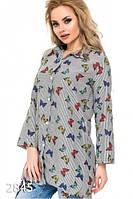 Рубашка женская серая оптом