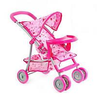 Игрушечная коляска для кукол 9304 BWT/ 025: складная, металл/ткань, 54х34х55 см