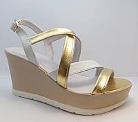 Женские кожаные босоножки, фабричная женская обувь, в наличии 37р.