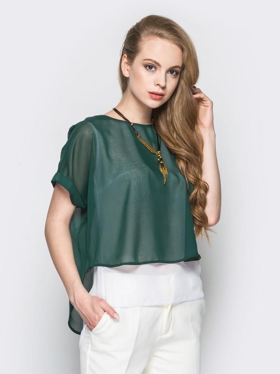 Блуза Шифон 449 (4 цвета)