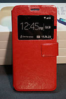 Чехол книжка для Samsung A510F DS (Galaxy A5 2016) DUAL SIM цвет красный