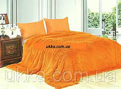 Покрывало меховое с большим ворсом Оранжевое 210х220