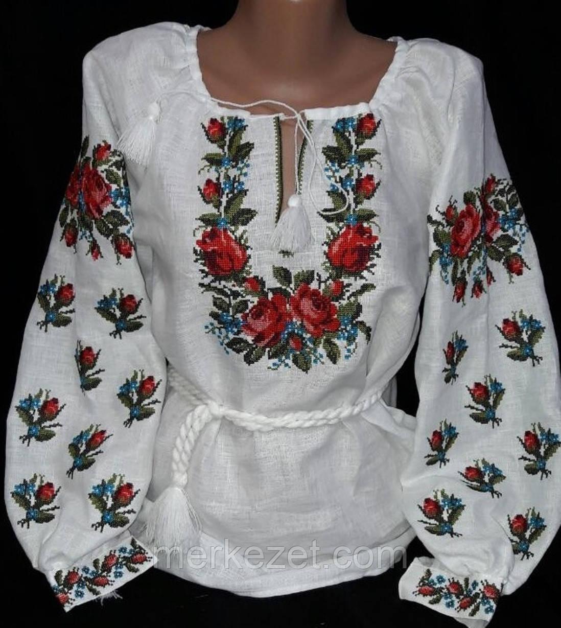 """Женская вышиванка. Вышиванка """"Кохана"""" для женщин.Этностиль. Вишиванки з льону"""