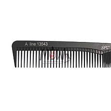 SPL Гребень Carbon 13543 для волос проф. Antistatic разнозубый , фото 2