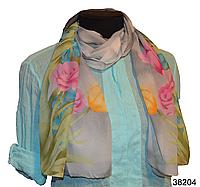 Модный весенний шарф Тюльпан серый