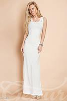 Платье майка рубчик. Цвет белый.