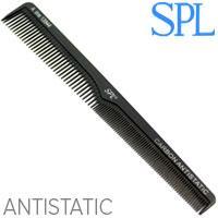 SPL Гребень Carbon 13544 для волос проф. Antistatic разнозубый скошенный