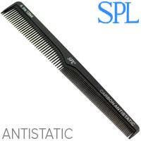 SPL Гребень Carbon 13544 для волос проф. Antistatic разнозубый скошенный, фото 2