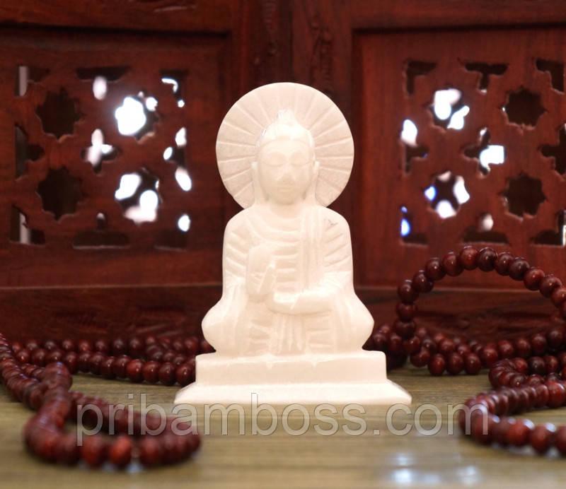 Статуэтка белый мрамор Будда